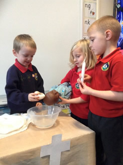 Baptism role play in Reception 2