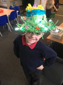 Easter bonnet creating in early years 1