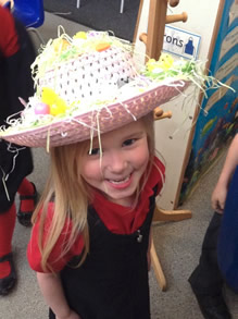 Easter bonnet creating in early years 2
