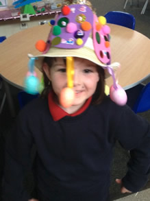 Easter bonnet creating in early years 3