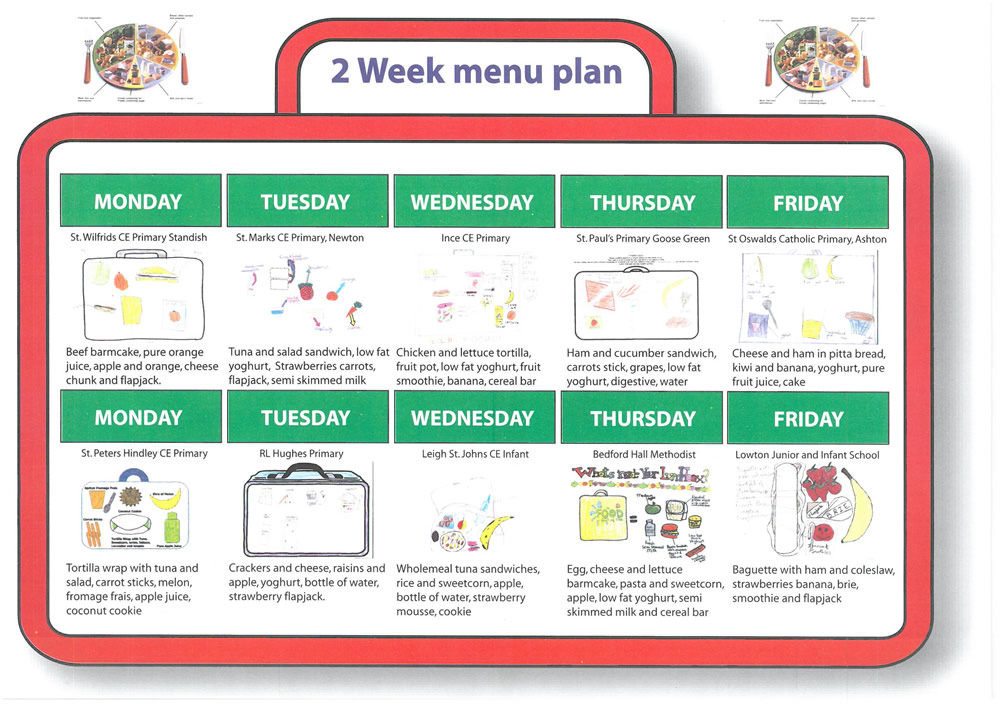 School Meals menu for Autumn 2018